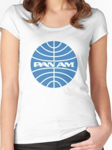 Pan am retro logo Women's Fitted Scoop T-Shirt