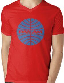 Pan am retro logo Mens V-Neck T-Shirt