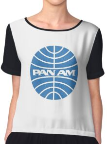 Pan am retro logo Chiffon Top