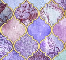 Royal Purple, Mauve & Indigo Decorative Moroccan Tile Pattern Sticker
