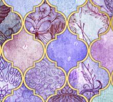 Royal Purple, Mauve & Indigo Decorative Moroccan Tile Pattern Sticker