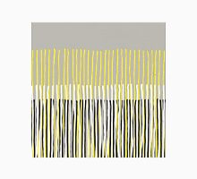 Yellow Rising - Abstract Stripes in Yellow, Grey, Black & White Womens Fitted T-Shirt