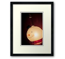 Christmas Snowman Light Framed Print