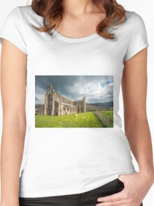 Tintern Abbey Wye Valley Women's Fitted Scoop T-Shirt