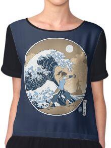 Avatar Waterbender Great Wave Women's Chiffon Top