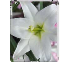 White easter lily iPad Case/Skin