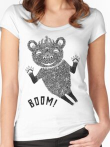 Boom Bear Women's Fitted Scoop T-Shirt
