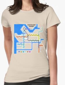 Vancouver Transit Network Womens Fitted T-Shirt