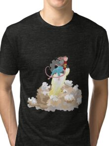 Mouse with Jetpack Tri-blend T-Shirt