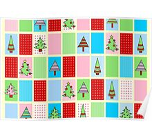 Christmas Squares Poster