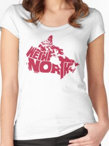 We The North (Red) Women's Fitted Scoop T-Shirt