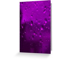 PURPLE RAIN (CARD) Greeting Card