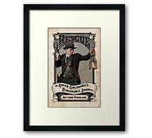 Rescue OR, Royer Goldhawk's Remarkable Journal Framed Print