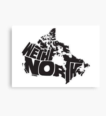 We The North (Black) Canvas Print