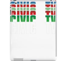 Civic TV iPad Case/Skin
