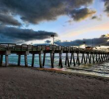 Sharkey's Pier -- Venice,  Florida by T.J. Martin