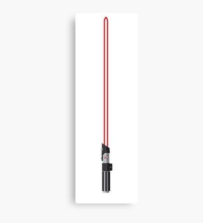 Darth Vader Lightsaber Canvas Print