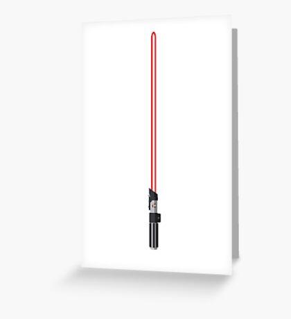 Darth Vader Lightsaber Greeting Card