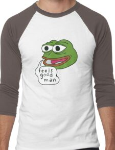"Pepe The Frog ""Feels good man"" Men's Baseball ¾ T-Shirt"