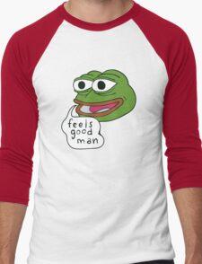 "Pepe The Frog ""Feels good man"" Men's Baseball ¾ T-Shirt"