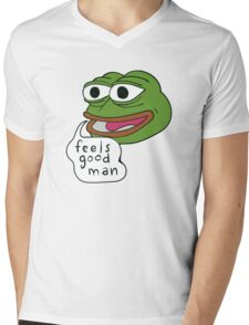 "Pepe The Frog ""Feels good man"" Mens V-Neck T-Shirt"