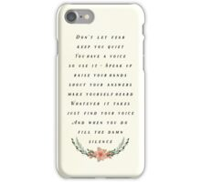 Fill the Silence iPhone Case/Skin
