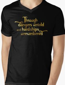 Through dangers untold and hardships unnumbered Mens V-Neck T-Shirt