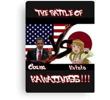 Obama VS Krinio Canvas Print