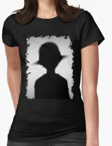 Luffy One Piece Silhouette Womens Fitted T-Shirt
