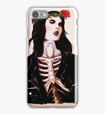 Watercolor and ink Portrait  iPhone Case/Skin