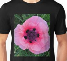 Pink and Black Unisex T-Shirt
