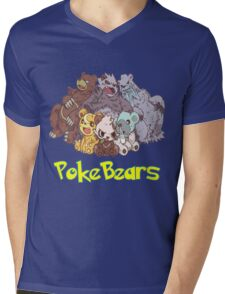 PokeBears Mens V-Neck T-Shirt