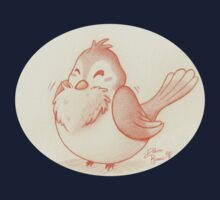 Fluffy bird One Piece - Short Sleeve