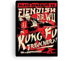 Black Dynamite vs. Fiendish Dr. Wu Canvas Print