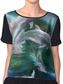 Dance Of The Dolphins Chiffon Top