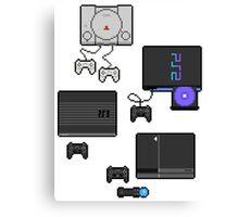 Pixel art consoles Canvas Print