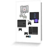 Pixel art consoles Greeting Card