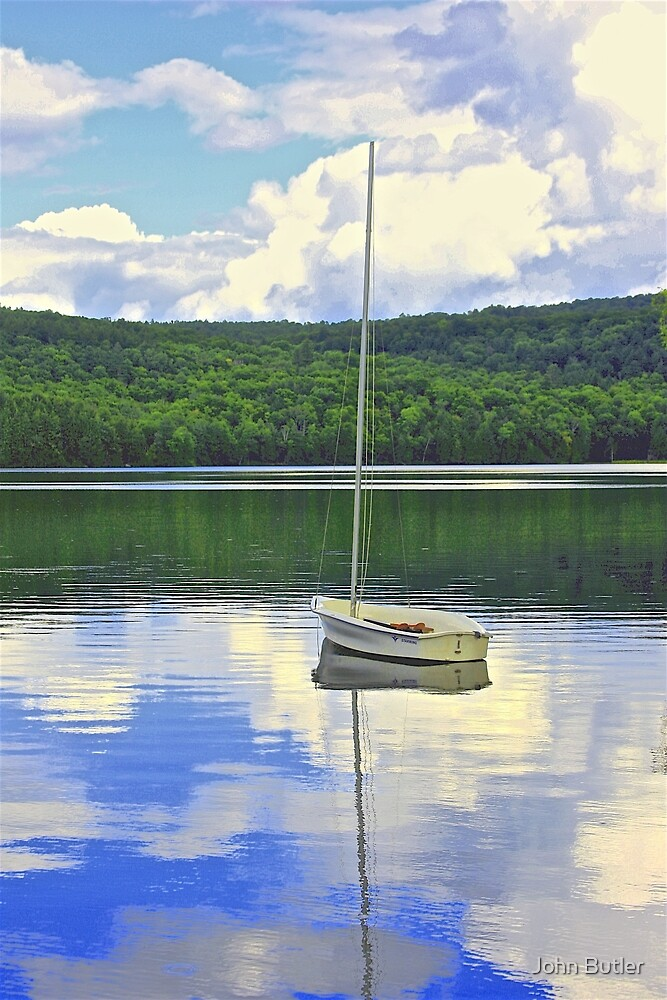 Sailboat and Reflection by John Butler