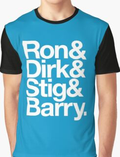 The Prefab Four - Ron & Dirk & Stig & Barry - It's the Rutles! Helvetica Graphic T-Shirt