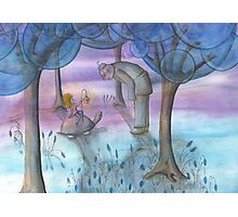 Chat under the trees Photographic Print