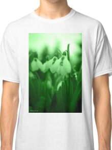 Snowdrop Abstract Classic T-Shirt