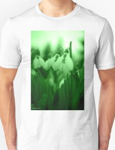 Snowdrop Abstract Unisex T-Shirt