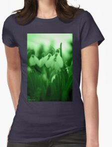 Snowdrop Abstract Womens T-Shirt
