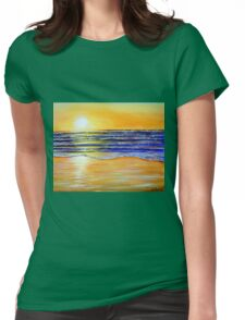 New Year's Eve Sunset Womens Fitted T-Shirt