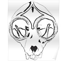 Loris Skull Poster