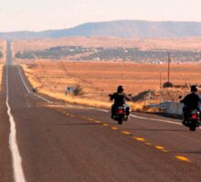 Bikers on Route 66 Sticker