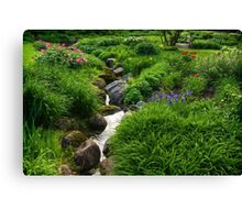 Lush Green Gardens - the Joy of June Canvas Print