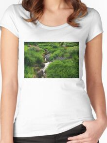 Lush Green Gardens - the Joy of June Women's Fitted Scoop T-Shirt