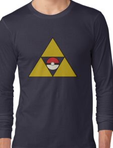 Triforce with Pokeball Long Sleeve T-Shirt