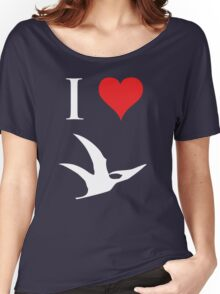 I Love Dinosaurs - Pterodactyl (white design) Women's Relaxed Fit T-Shirt